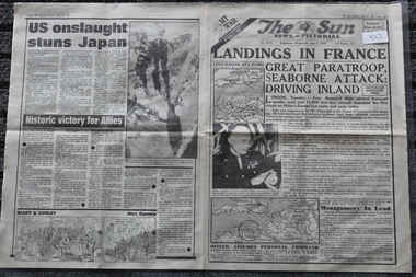 Newspaper - The Sun Newspaper dated 7/6/1944 - Special - My War Part 43, Local Newspaper Dated 7/6/1944 - Special - My War Part 43 - Landings In France - On The Beaches Of Normandy