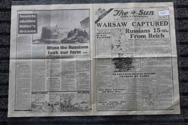 Newspaper - The Sun Newspaper Dated 18/1/1945 - Special - My War Part 49, Local newspaper dated 18/1/1945 _Special - My War Part 49 - Warsaw Captured  - Kamikaze Killers Allies Pay a Heavy Price For Luzon