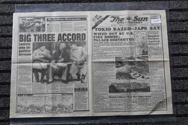 The Sun Newspaper Dated 8/5/1945 - Specil My War Part 50, Local Newspaper Paper Dated 28/5/1945 - Special - My War Part 50 - Tokio Razed  Jap Say - Sattered Dreams