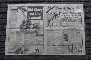 Newspaper - The Sun Newspaper Dated 20/2/1945 - Special - My War Part 51 - Marines Invade Iwo Jima - The Long March, Local Newspaper Dated 20/2/945 - Special - My War Part 51