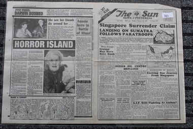 Newspaper - The Sun Newspaper dated 16/2/1942 - Special - My War Part 22, Local Newspaper Dted 16/2/1942 - Spcial - My War Part 22 - Singapore Surrender Claim - The Fall Of Singapore