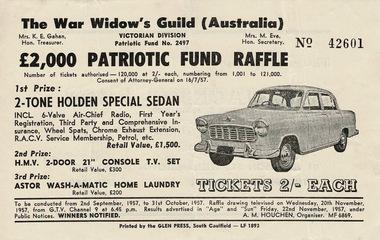 WAR WIDOWS GUILD (AUSTRALIA) RAFFLE TICKETS (2 OF)