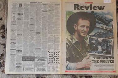 Newspaper - Herald Sun Dated 11/2/1995 50 Anniv. of Japanese Attacks Contiue Thru Java, New Guinea and Rabual