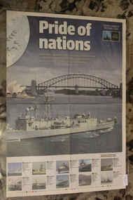 Newspaper - Newspaper Daily Telegraph dated5/10/2013 - Pride Of Nations - Sydney Harbour - Celemonial Fleet Review 100 years, Newspaper  Daily Telegraph dated5/10/2013