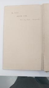 Memorabilia - Trainees notes, no title, c1940
