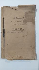 Memorabilia - Anson maintenance schedule, 1940