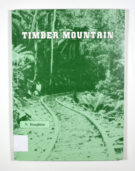 """Paperback. Front cover has an old photograph of a timber railway leading into a forest. There is also a man standing at the side of the railway. In the inside back cover is a fold out map titled """"Sawmills & Tramways of the Murrindindi Forest 1885-1950."""