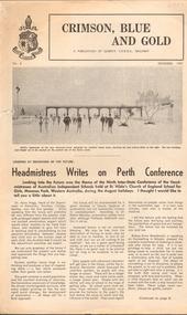Newsletter, Crimson, Blue and Gold: A Publication of Queen's CEGGS, Ballarat, December 1967
