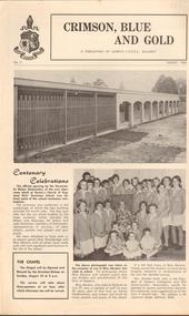 Newsletter, Crimson, Blue and Gold: A Publication of Queen's CEGGS, Ballarat, August 1968