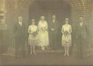 Photocopy, Wedding group 1927, Ballarat Grammar School, 2013