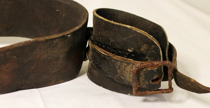 Wrist section of restraint belt with buckle (right)