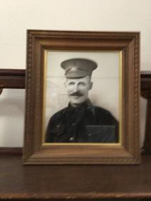 Framed photograph, JOSEPH NALDER 1873 - 1917  PRIVATE 291, C 1916