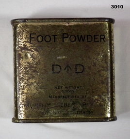 Foot powder military issue for personal