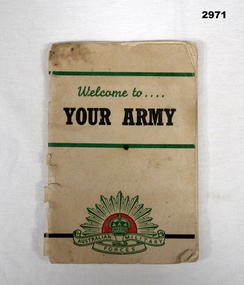 BOOK, Welcome to Your Army, 1955