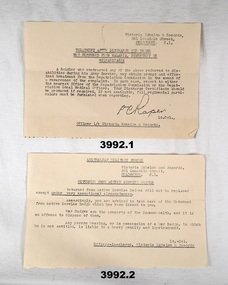 Documents relating to medical and badge wearing WW2