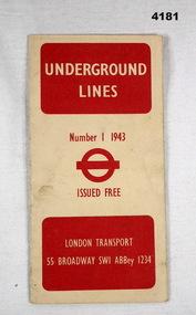 Map of London Underground lines 1943