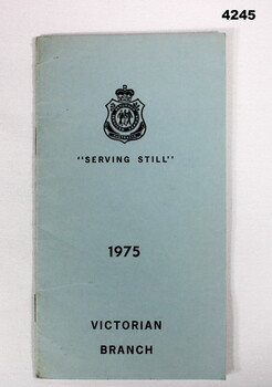 RSL State branch booklet 1975