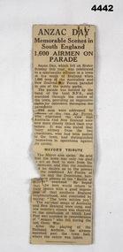 Newspaper - NEWSPAPER CUTTING