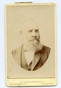 James Tuson, Mayor of Ararat ca late19C, EC Waddington & Co, Portrait of James Tuson, Mayor of Ararat, ca late19C, 1882 or a little later