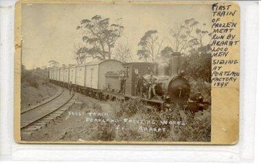 First Train to Portland Freezing Works, 1895