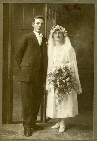 Wedding Portrait, Tom and Daisy, ca1920, Wedding Portrait of Tom and Daisy, ca11 Feb 1920, c.11 Feb 1920
