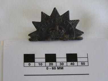 Rising Sun hat badge, Australia, late 19th century