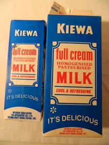 Milk Cartons - 2 litre & 1 litre, 2 litres - 1986. 1 litre - 1980's