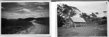 18 small black and white photographs of the Bogong High Plains, 1948