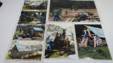 Photos - Collection Wallaces Hut Restoration and one of Cope Hut