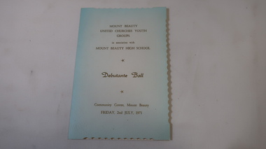 Ticket - Debutante Ball, Mount Beauty United Churches Youth Groups and Mt Beauty High School