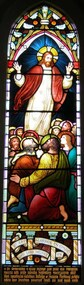 """Memorial window: Elizae (Eliza) RUTLEDGE, """"By Thy Glorious Ascension Good Lord Deliver Us"""""""