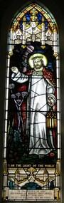"""Memorial window: Herbert Firks SAMBELL, """"I Am The Light Of The World"""""""