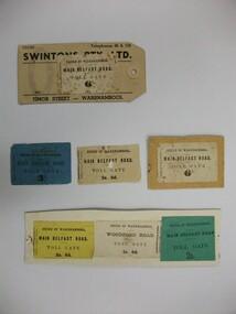 Ticket, Toll Road, Circa 1866