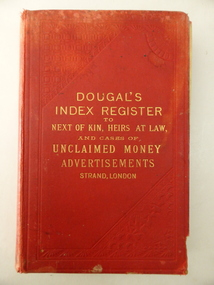 Book, Dougaln Index Register to NOK, Early 20th century