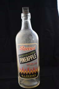 Bottle, Imitation Cordial Pineaple Reeves W'bool, 1970s
