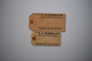 Labels x 2, Evans & Co, Early 20th century
