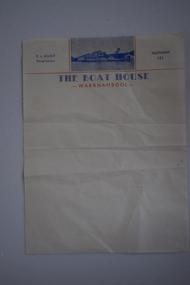 Letterhead, The Boat House Warrnambool, Mid 20th century