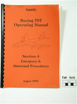manual boeing 707 emergency operating manual victorian collections rh victoriancollections net au Emergency Binder Emergency Symbol