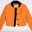 Orange cropped jacket created by Noeleen King