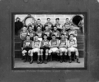 Photograph (Victoria Police), Police Officers group photo on sporting event, June 1926