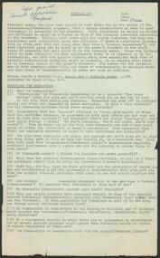 Ephemera, Radicalesbians, Bisexuality [Conference Paper], Radicalesbian Conference, Sorrento, Victoria, 6-8 July 1973, 1973