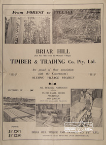 Poster, Briar Hill Timber & Trading Co. Pty. Ltd, c.1956