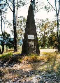 Photograph, Hume and Hovell Monument, Barjarg, Spring Excursion, Hume and Hovell's 1824 expedition (Part 2), 26 October 1997, 26/10/1997