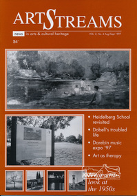 Journal, ArtStreams: News in arts and cultural heritage; Vol. 2, No. 4, Aug-Sep 1997, 1997