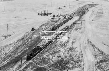 Photograph, D-class Diesel Locomotive D-1 and a Porter 0-4-0 Tank locomotive in the limestone quarry, Fyansford Cement Works Railway, November 1962, 1962