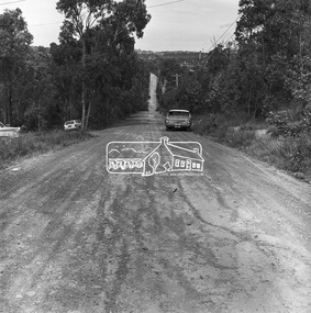Photograph, Michael Wood, Progress Road looking east from outside No. 180, Eltham North, 1976