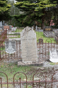 Photograph, Peter Pidgeon, Graves of Thomas Sweeney and family, Eltham Cemetery, Victoria, 5 April 2021