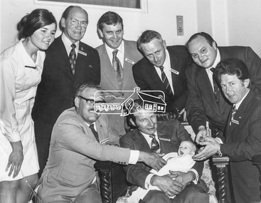 Photograph, Laurie Richards, Group who attended Dinner to Aid Building Appeal for Austin Hospital, 21 Nov.1973