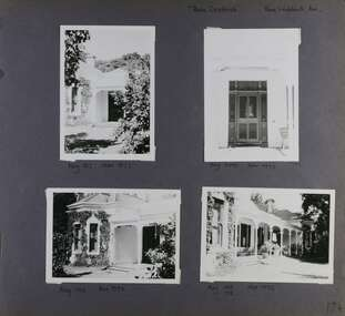 Three views of the entrance and one of the side verandah of this old home
