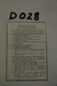 POW Instructions